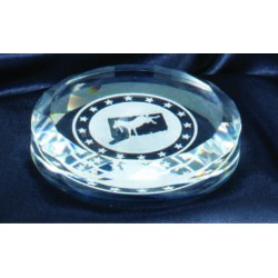 """3 1/2"""" Crystal Paperweight"""