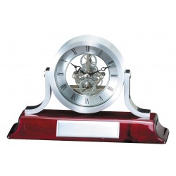 Silver Clock on Rosewood Base Executive Awards
